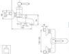 Схема Смеситель настенный Giulini Hermitage 4401 Современный / Скандинавский / Модерн