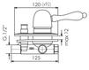 Схема Смеситель для ванны Giulini Harmony 9560 Современный / Скандинавский / Модерн