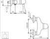 Схема Смеситель настенный Giulini Harmony 9508WD Современный / Скандинавский / Модерн