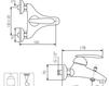 Схема Смеситель настенный Giulini Kometa 8401 Современный / Скандинавский / Модерн