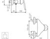 Схема Смеситель настенный Giulini Kometa 8408 Современный / Скандинавский / Модерн