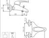 Схема Смеситель настенный Giulini Infinito 8501 Современный / Скандинавский / Модерн