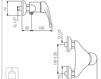Схема Смеситель настенный Giulini Infinito 8508 Современный / Скандинавский / Модерн