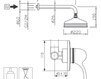 Схема Душевая система Giulini Roma 2615WB Современный / Скандинавский / Модерн