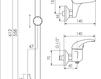 Схема Смеситель настенный Giulini Kelly 2508WS Современный / Скандинавский / Модерн
