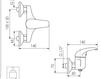 Схема Смеситель настенный Giulini Giada 2208 Современный / Скандинавский / Модерн