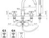 Схема Смеситель для ванны Giulini G3 7665 Современный / Скандинавский / Модерн