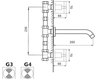 Схема Смеситель для раковины Giulini G3 7623 Современный / Скандинавский / Модерн