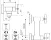 Схема Смеситель настенный Giulini G3 7607 Современный / Скандинавский / Модерн