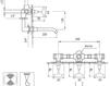 Схема Смеситель настенный Giulini G5 7903 Современный / Скандинавский / Модерн
