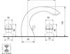 Схема Смеситель для раковины Giulini Persia 3812A Современный / Скандинавский / Модерн