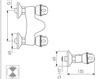 Схема Смеситель настенный Giulini Persia 3807 Современный / Скандинавский / Модерн