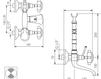 Схема Смеситель настенный Giulini Kensington 3700L Современный / Скандинавский / Модерн
