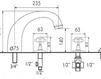 Схема Смеситель для ванны Giulini Kensington 3760 Современный / Скандинавский / Модерн