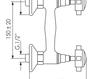 Схема Смеситель настенный Giulini Kensington 3707WD Современный / Скандинавский / Модерн