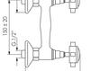 Схема Смеситель настенный Giulini Kensington 3707WS Современный / Скандинавский / Модерн