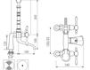 Схема Смеситель для ванны Giulini Praga 7500CB Современный / Скандинавский / Модерн