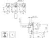 Схема Смеситель настенный Giulini Praga 7503 Современный / Скандинавский / Модерн