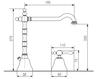 Схема Смеситель для раковины Giulini Praga 7512A Современный / Скандинавский / Модерн