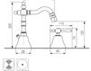 Схема Смеситель для биде Giulini Praga 7545A Современный / Скандинавский / Модерн