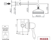 Схема Душевая система Giulini Praga 7515WB Современный / Скандинавский / Модерн