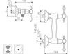 Схема Смеситель настенный Giulini Praga 7507WD Современный / Скандинавский / Модерн