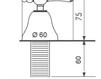 Схема Смеситель для биде Giulini Praga 7504 Современный / Скандинавский / Модерн