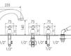 Схема Смеситель для ванны Giulini Lotus 0560 Современный / Скандинавский / Модерн