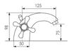 Схема Смеситель для раковины Giulini Lotus SA555 Современный / Скандинавский / Модерн