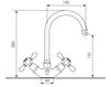 Схема Смеситель для раковины Giulini Lotus SA556 Современный / Скандинавский / Модерн