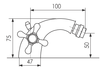 Схема Смеситель для биде Giulini Lotus SA557 Современный / Скандинавский / Модерн