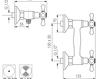 Схема Смеситель настенный Giulini Lotus 0507 Современный / Скандинавский / Модерн