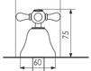 Схема Смеситель для биде Giulini Lotus 0504 Современный / Скандинавский / Модерн