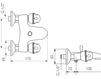 Схема Смеситель настенный Giulini Persia Crystal 3801/S Современный / Скандинавский / Модерн