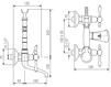 Схема Смеситель настенный Giulini Praga Crystal 7500/S Современный / Скандинавский / Модерн