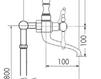 Схема Смеситель для ванны Giulini Praga Crystal 7500CT/S Современный / Скандинавский / Модерн