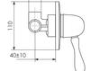 Схема Встраиваемый смеситель Giulini Praga Crystal 7515/S Современный / Скандинавский / Модерн