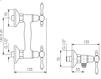 Схема Смеситель настенный Giulini Persia Crystal 7507/S Современный / Скандинавский / Модерн
