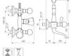Схема Смеситель настенный Giulini Odessa Crystal 3900/S Современный / Скандинавский / Модерн