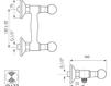 Схема Смеситель настенный Giulini Odessa Crystal 3907/S Современный / Скандинавский / Модерн