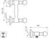 Схема Смеситель настенный Giulini Odessa Crystal 3907WD/S Современный / Скандинавский / Модерн