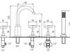 Схема Смеситель для ванны Giulini G5 Crystal 7960/S Современный / Скандинавский / Модерн