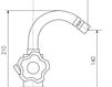 Схема Смеситель для биде Giulini G5 Crystal 3659A Современный / Скандинавский / Модерн