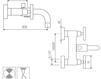 Схема Смеситель настенный Giulini GiÒ 3601 Современный / Скандинавский / Модерн