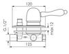 Схема Смеситель для ванны Giulini Harmony Crystal 9560/S Современный / Скандинавский / Модерн