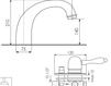 Схема Смеситель для ванны Giulini Harmony Crystal 9560BD/S Современный / Скандинавский / Модерн