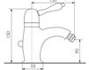 Схема Смеситель для биде Giulini Harmony Crystal 9507A/S Современный / Скандинавский / Модерн
