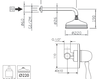Схема Душевая система Giulini Harmony Crystal 9515WB/S Современный / Скандинавский / Модерн