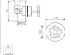 Схема Встраиваемый смеситель Giulini Gio Mix 3515 Современный / Скандинавский / Модерн