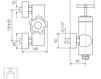 Схема Смеситель настенный Giulini Gio Mix 3508 Современный / Скандинавский / Модерн